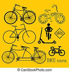 iconen, fiets