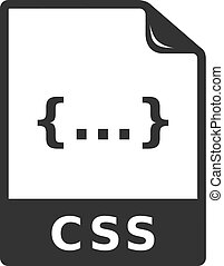 iconen, formaat, -, bw, bestand, css