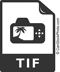 iconen, formaat, -, bw, bestand, tif