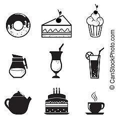 iconen, gebakje