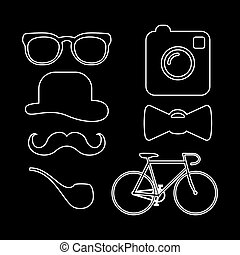 iconen, hipster