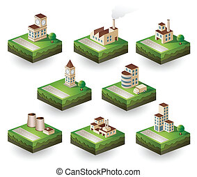iconen, isometric