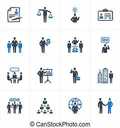 iconen, menselijk, management, hulpbron