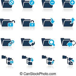 //, iconen, reeks, -, 1, hemelsblauw, map