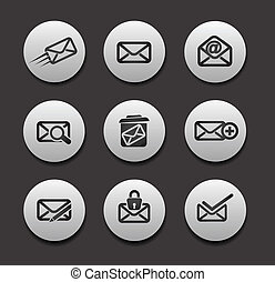 iconen, set, email