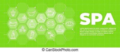 iconen, spa, groene, tekens & borden, achtergrond