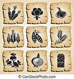 iconen, voedingsmiddelen