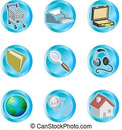 iconen, web internet
