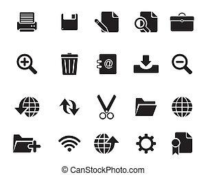 iconen, web, vector