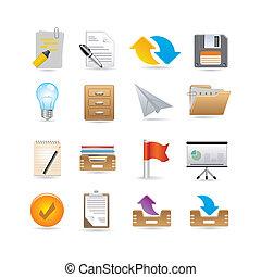 iconerne, dokumenter, projekter
