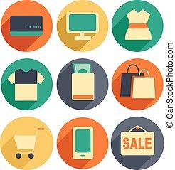 iconerne, indkøb, illustration
