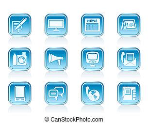 iconerne, kommunikation, kanaler