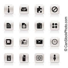 iconerne, kontor, firma, enkel
