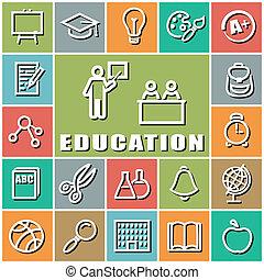 iconerne, undervisning