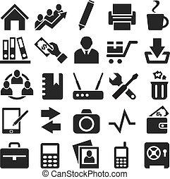 iconerne, væv, mobile.