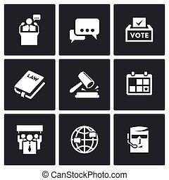 iconerne, valg, set., kandidat, præsident