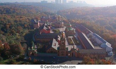 Sviato Pokrovskyi Golosiiv, an orthodox monastery, just ...