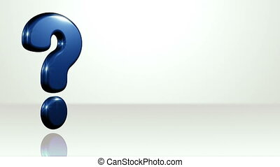 Iconic Question Mark On White Stage - background animation...