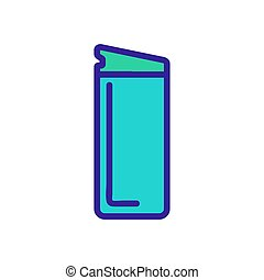 icono, abierto, ilustración, thermo, vector, taza, contorno