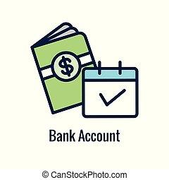 icono, ahorros, monetario, retiro, imágenes, y, saliente