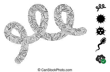 icono, bacilo, arranque, espiral, mosaico