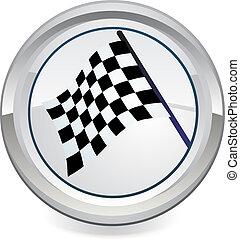 icono, bandera, vector, carreras