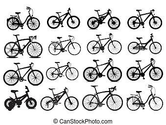 icono, bicicleta