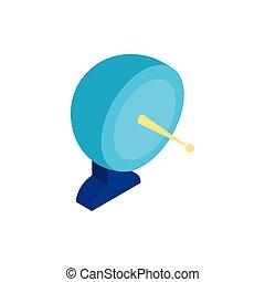 icono comunicación, aislado, placa, antena