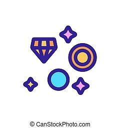 icono, contorno, excavación, ilustración, símbolo, joyas,...