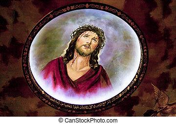icono, de, jesucristo