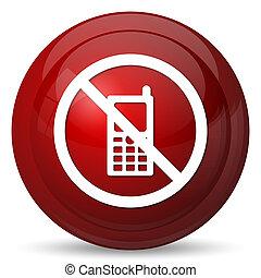 icono de teléfono, restringido, móvil