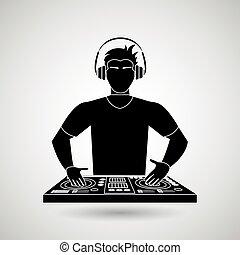 icono, dj, diseño