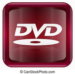 icono, dvd, rojo