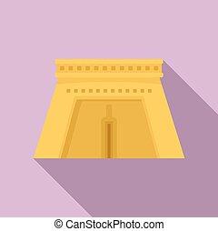 icono, egipto, plano, estilo, templo