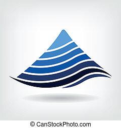 icono, encamando, vector, montaña