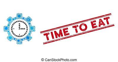 icono, engranaje, comer, tiempo, collage, epidemia,...