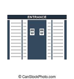 icono, estadio, torniquete, entrada
