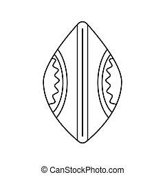 icono, estilo, africano, contorno, protector