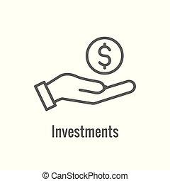 icono, exposiciones, o, actividades bancarias de la inversión, aumento, cantidad