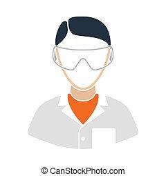 icono, eyewear, químico