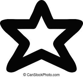 icono, forma, estrella
