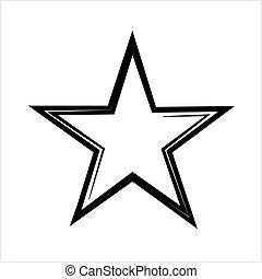 icono, forma, estrella, icono