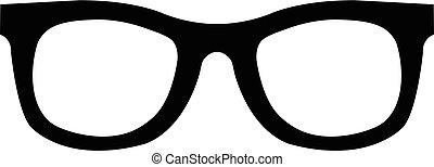 icono, gafas de sol, vector