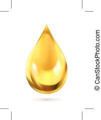 icono, gota, aceite
