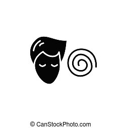 icono, hipnosis, glyph