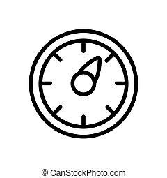 icono, ilustración, thermo, vector, mostrador, contorno