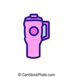 icono, ilustración, thermo, vector, taza, automático, manija...