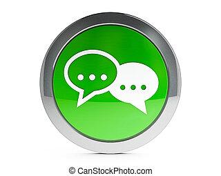 icono, internet, conversación, con, toque de luz