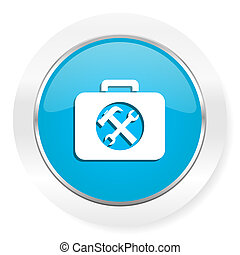 icono, juego herramientas, servicio, señal