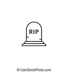 icono, lápida, tumba, rasgón